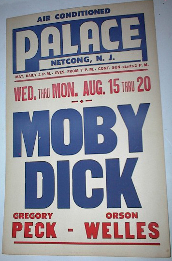 Netcong NJ Palace Theatre Movie Poster 1956