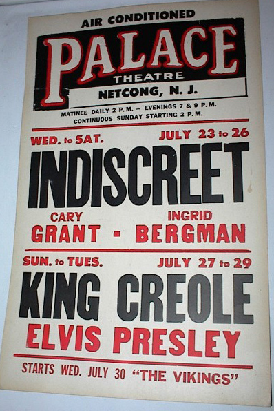 Netcong NJ Palace Theatre 1958